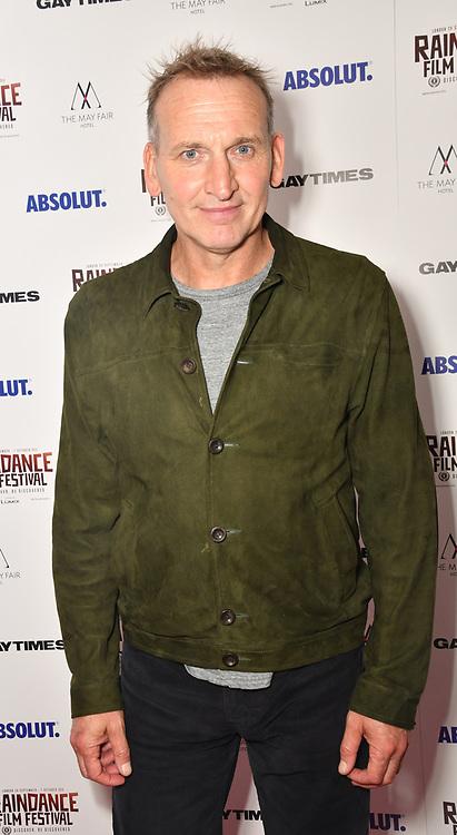 Christopher Eccleston attends Raindance Film Festival Gay Times Gala screening - George Michael: Freedom (The Director's Cut) London, UK. 4th October 2018.