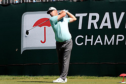 June 21, 2018 - Cromwell, CT, U.S. - CROMWELL, CT - JUNE 21: Matt Every of the United States hits from the 1st tee during the First Round of the Travelers Championship on June 21, 2018, at TPC River Highlands in Cromwell, Connecticut. (Photo by Fred Kfoury III/Icon Sportswire) (Credit Image: © Fred Kfoury Iii/Icon SMI via ZUMA Press)