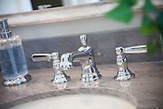Bathroom Counter Sink with Chrome Faucet
