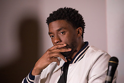 """Lead actor Chadwick Boseman, participated in a Q&A after the advance screening of the movie """"Marshall"""",  a biography about a young Thurgood Marshall, the first African-American Supreme Court Justice. Previewed on day four of the NAACP's 108th Annual Convention, at the Landmark Theater, in Baltimore, MD. on July 25, 2017. (Photo by Cheriss May) *** Please Use Credit from Credit Field ***"""
