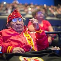 "Navajo Code Talker David Patterson Sr. attends the premiere of the Navajo dubbed version of ""Finding Nemo"" in Albuquerque Monday."