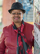 Sharon Brown poses for a photograph at Furr High School, February 13, 2015.