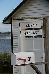 South Harpswell, Maine. Views at the Greeley Cottage at Potts Point