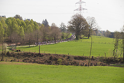 The peloton weaves through the Ardennes during Liege-Bastogne-Liege - a 136 km road race, between Bastogne and Ans on April 22, 2018, in Wallonia, Belgium. (Photo by Balint Hamvas/Velofocus.com)