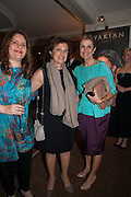 CAROLINE DIDIZIAN; TALINE AVAKIAN; HAYAT PALUMBO , The Foreign Sisters lunch sponsored by Avakian in aid of Cancer Research UK. The Dorchester. 15 May 2012