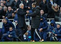 Football - 2019 / 2020 Premier League - Tottenham Hotspur vs. Wolverhampton Wanderers<br /> <br /> Jose Mourinho, Manager of Tottenham FC, and Nuno Esoirito Santo, Manager of Wolverhampton Wanderers,  at the end of the game at The Tottenham Hotspur Stadium.<br /> <br /> COLORSPORT/DANIEL BEARHAM