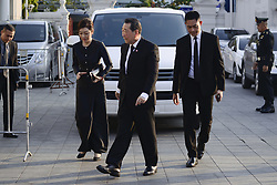 November 3, 2018 - Bangkok, Thailand - Thai business magnate and senior chairman of CP Group, Dhanin Chearavanont, arrives at the Wat Thepsirin Buddhist temple in funeral ceremony of Vichai Srivaddhanaprabha, late chairman of Leicester City Football Club, in Bangkok, Thailand November 3, 2018. (Credit Image: © Anusak Laowilas/NurPhoto via ZUMA Press)
