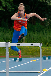 Anouk Vetter in action during the Press presentation of the olympic team Athletics on July 8, 2021 in Papendal Arnhem