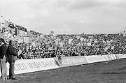 Crowds of supporters waving flags and various banners during the All Ireland Senior Gaelic Football Championship Final Dublin V Galway at Croke Park on the 22nd September 1974. Dublin 0-14 Galway 1-06.