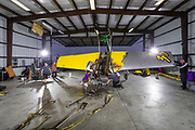 The crew works to disassemble the plane in the Florida panhandle where the accident occurred so it could be transported back home to the Kissimmee Warbirds Museum.
