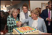 JUDE KELLY; SANDI TOKSVIG;; DEBBIE TOKSVIG;  , Sandi  and Debbie Toksvig,  renewing their civil partnership vows at the Royal Festival Hall. London. 29 March 2014.