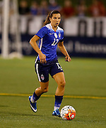 CHATTANOOGA, TN - AUGUST 19:  Defender Tobin Heath #17 of the United States dribbles with the ball during the friendly match against Costa Rica at Finley Stadium on August 19, 2015 in Chattanooga, Tennessee.  (Photo by Mike Zarrilli/Getty Images)
