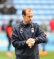 Coventry City's first team coach Jamie Clapham during the pre-match warm-up <br /> <br /> Photographer Andrew Vaughan/CameraSport<br /> <br /> Football - The Football League Sky Bet League One - Coventry City v Fleetwood Town - Saturday 27th February 2016 - Ricoh Stadium - Coventry   <br /> <br /> © CameraSport - 43 Linden Ave. Countesthorpe. Leicester. England. LE8 5PG - Tel: +44 (0) 116 277 4147 - admin@camerasport.com - www.camerasport.com