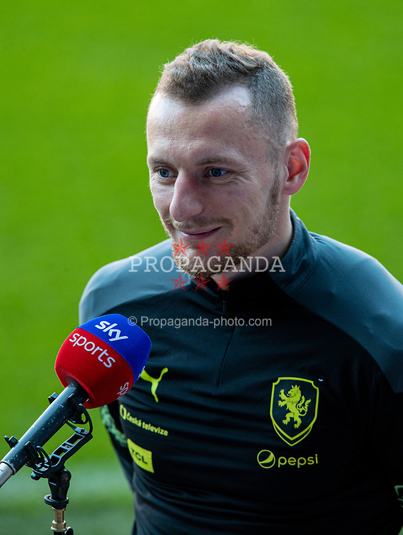 CARDIFF, WALES - Monday, March 29, 2021: Czech Republic's Vladimír Coufal gives an interview before a training session at the Cardiff City Stadium ahead of the FIFA World Cup Qatar 2022 Qualifying Group E game against Wales. (Pic by David Rawcliffe/Propaganda)