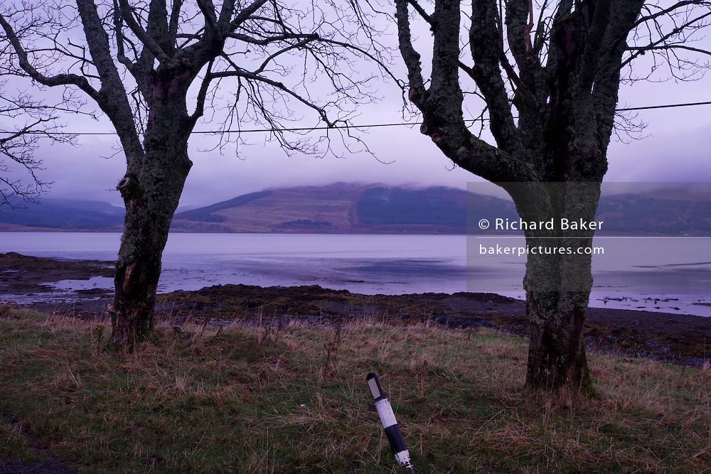 Loch Scridain landscape near the Old Smithy, Pennyghael, Isle of Mull, Scotland. (The Old Smithy (now a bed and breakfast cottage)  Pennyghael, Isle of Mull, Scotland. (http://www.explore-isle-of-mull.co.uk/smithy-house/index.htm)).