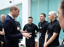 June 2, 2017 - Manchester, United Kingdom - Image licensed to i-Images Picture Agency. 02/06/2017. Manchester, United Kingdom. The Duke of Cambridge at the headquarters of Greater Manchester Police in Manchester, United Kingdom, to meet those involved in the response of last week's suicide bomb attack at the Manchester Arena which killed 22 people. Picture by ROTA  / i-Images UK OUT FOR 28 DAYS (Credit Image: © Rota/i-Images via ZUMA Press)