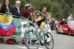 September 15, 2018 - Sant Julia De Loria, SPAIN - Dutch Steven Kruijswijk of Team LottoNL-Jumbo pictured at the 20th stage of the 'Vuelta a Espana', Tour of Spain cycling race, 97,3km from Escaldes-Engordany to Sant-Julia de Loria, Spain, Saturday 15 September 2018. ..BELGA PHOTO YUZURU SUNADA FRANCE OUT. (Credit Image: © Yuzuru Sunada/Belga via ZUMA Press)