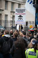 Anti-lockdown activists demonstrating against coronavirus restrictions lDowning Street London 10th oct 2020 photo Brian Jordan