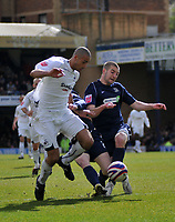 Photo: Tony Oudot/Richard Lane Photography. <br /> Southend United v Swansea City. Coca-Cola League One. 21/03/2008. <br /> Darren Pratley of Swansea goes past the Southend defence