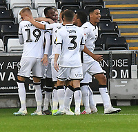 Football - 2019 / 2020 EFL Carabao (League) Cup - Second Round: Swansea City vs. Cambridge United<br /> <br /> Swanse celebrates scoring their first goal, at Liberty Stadium.<br /> <br /> COLORSPORT/WINSTON BYNORTH