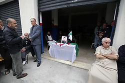 April 13, 2018 - Algiers, Algeria - A portrait of Algerian co-pilot Sadiki Mahrez, who died in the plane crash, is seen in Algiers, Algeria, on April 13, 2018. At least 257 people were killed when an Algerian military plane crashed. crashed near Algiers  (Credit Image: © Billal Bensalem/NurPhoto via ZUMA Press)