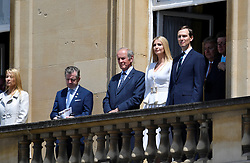 Ivanka Trump and Jared Kushner (right) during a Ceremonial Welcome at Buckingham Palace, London, on day one of a three day state visit by US President Donald Trump to the UK.
