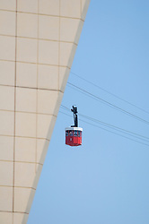 Cable car red Teleferic Montjuic Port Vell