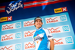 May 20, 2018 - Lillehammer, NORWAY - 180520 Sonder Holst Enger of Norway during the award ceremony after the last stage of the Tour of Norway on May 20, 2018 in Lillehammer..Photo: Jon Olav Nesvold / BILDBYRÃ…N / kod JE / 160254 (Credit Image: © Jon Olav Nesvold/Bildbyran via ZUMA Press)