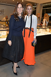 Left to right, MONICA VINADER and OLIVIA PALERMO at a party to celebrate the launch of the Monica Vinader London Flagship store at 71-72 Duke of York Square, London SW3 on 4th December 2014.