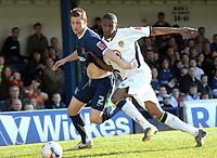 Photo: Ashley Pickering.<br />Southend United v Leeds United. Coca Cola Championship. 17/03/2007.<br />Tresor Kandol of Leeds (R) battles with Simon Francis of Southend