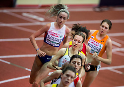 Hanna Klein of Germany competes in the Women's 3000 metres heats on day one of the 2017 European Athletics Indoor Championships at the Kombank Arena on March 3, 2017 in Belgrade, Serbia. Photo by Vid Ponikvar / Sportida