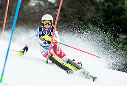 """Aline Danioth (SUI) competes during 1st Run of FIS Alpine Ski World Cup 2017/18 Ladies' Slalom race named """"Snow Queen Trophy 2018"""", on January 3, 2018 in Course Crveni Spust at Sljeme hill, Zagreb, Croatia. Photo by Vid Ponikvar / Sportida"""