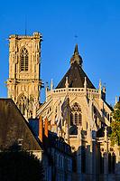 France, Nièvre (58), Nevers, cathédrale Saint-Cyr-et-Sainte-Julitte sur le chemin de Saint-jacques de Compostelle, val de Loire // France, Nièvre (58), Nevers, Saint-Cyr-et-Sainte-Julitte cathedral on the way to Saint-Jacques de Compostelle, Loire valley