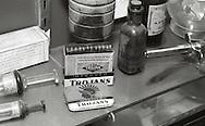 Antique drugstore items.
