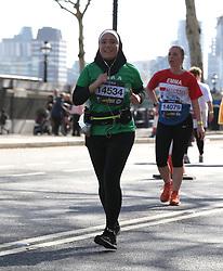Competitor during the 2019 London Landmarks Half Marathon.