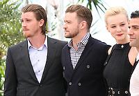 Garrett Hedlund, Justin Timberlake, Carey Mulligan, Oscar Isaac, at the Coen brother's new film 'Inside Llewyn Davis' photocall at the Cannes Film Festival Sunday 19th May 2013