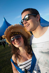 Fans at the Goldenvoice Arena on Friday night..RockNess 2011, the annual music festival which takes place in Scotland at Clune Farm, Dores, on the banks of Loch Ness near Inverness..Pic ©2011 Michael Schofield. All Rights Reserved..
