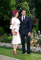 Kelly Brook and Jeremy Parisi during day five of Royal Ascot at Ascot Racecourse.