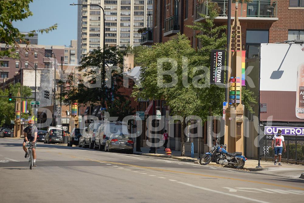 The Boystown neighborhood of Chicago, Illinois on Friday, Sept. 4, 2020. Photo by Mark Black