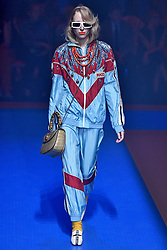 Model Alina Pavlushova walks on the runway during the Gucci Fashion Show during Milan Fashion Week Spring Summer 2018 held in Milan, Italy on September 20, 2017. (Photo by Jonas Gustavsson/Sipa USA)