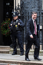 London, UK. 18th December, 2018. David Gauke MP, Lord Chancellor and Secretary of State for Justice, leaves 10 Downing Street following the final Cabinet meeting before the Christmas recess. Topics discussed were expected to have included preparations for a 'No Deal' Brexit.