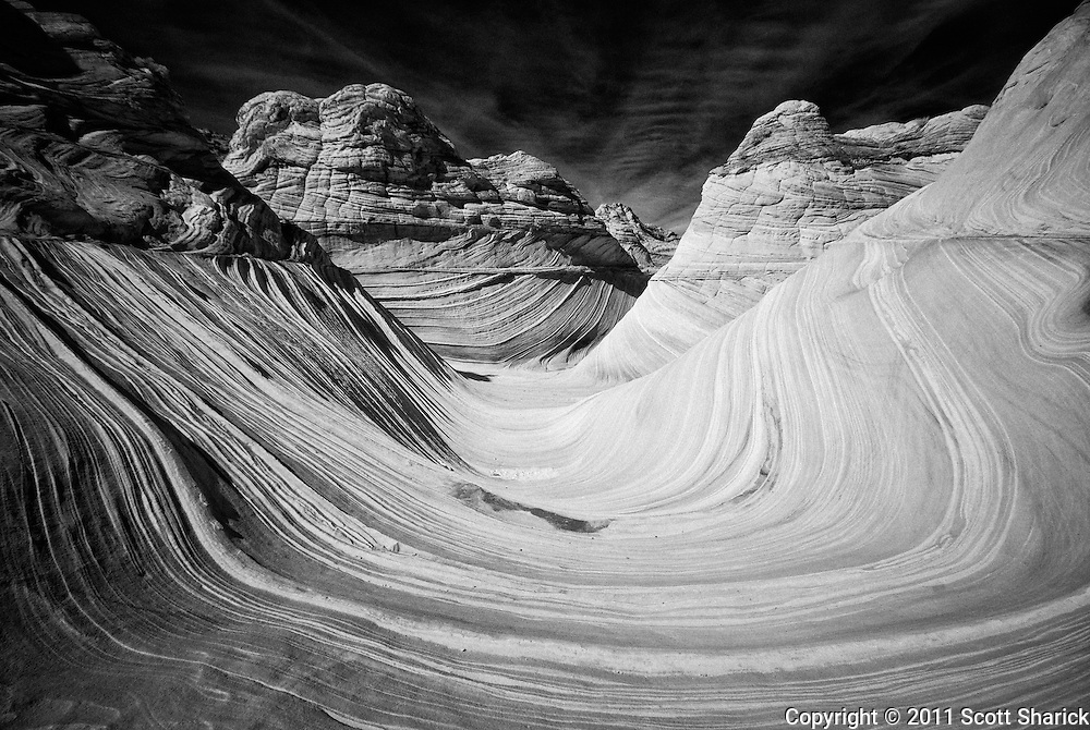 Some infrared images of the are known as 'The Wave'. Located in northern Arizona you must hike from southern Utah to reach this area.