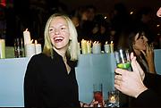 Elizabeth Murdoch. Talk pre-Bafta party. St. Martin's Lane hotel. London. 24 February 2001. © Copyright Photograph by Dafydd Jones 66 Stockwell Park Rd. London SW9 0DA Tel 020 7733 0108 www.dafjones.com