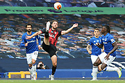 Bournemouth midfielder Dan Gosling (4) clears with the overhead kick during the Premier League match between Everton and Bournemouth at Goodison Park, Liverpool, England on 26 July 2020.