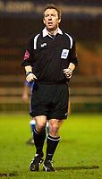 Photo: Daniel Hambury.<br />Peterborough United v Swindon Town. LDV Vans Trophy. 22/11/2005.<br />Referee Paul Taylor.