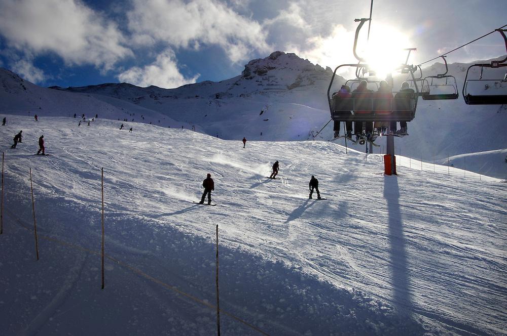 Oostenrijk, Fuegen, 5 jan 2007&#xA;Wintersport, ski, skien, sneeuw, piste, &#xA; &#xA;&#xA;Foto: (c) Michiel Wijnbergh<br />