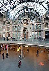 Antwerp central railway station in Belgium
