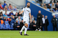 Joe Ledley of Derby county looks on. EFL Skybet championship match, Cardiff city v Derby County at the Cardiff city stadium in Cardiff, South Wales on Saturday 30th September 2017.<br /> pic by Andrew Orchard, Andrew Orchard sports photography.