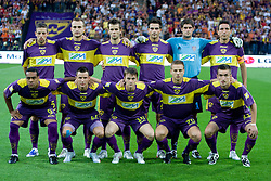 Players of Maribor before Third Round of Champions League qualifications football match between NK Maribor and FC Zurich,  on August 05, 2009, in Ljudski vrt , Maribor, Slovenia. Zurich won 3:0 and qualified to next Round. (Photo by Vid Ponikvar / Sportida)