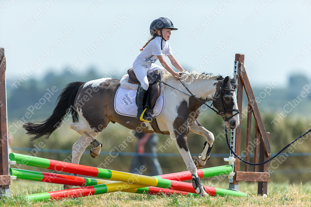 Victoria Darcy from Sixmilebridge riding Oakland Teddy at the 2018 West Clare Horse Show and Family Fun Day